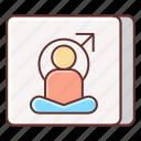 exercise, mens, yoga, yoga position icon