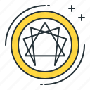 enneagram, mandala, symbolic icon