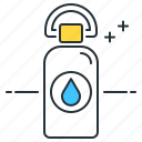hydration, water, water bottle icon