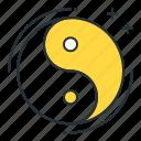 yin yang, china, balance, sign