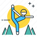 retreat, yoga, yoga retreat icon