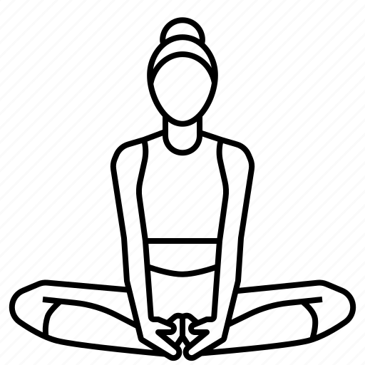 Angle, bound, pose, yoga icon - Download on Iconfinder