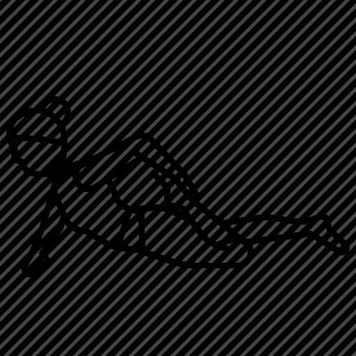 frog, half, pose, yoga icon