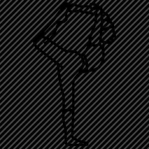 dancer, ii, king, pose, yoga icon