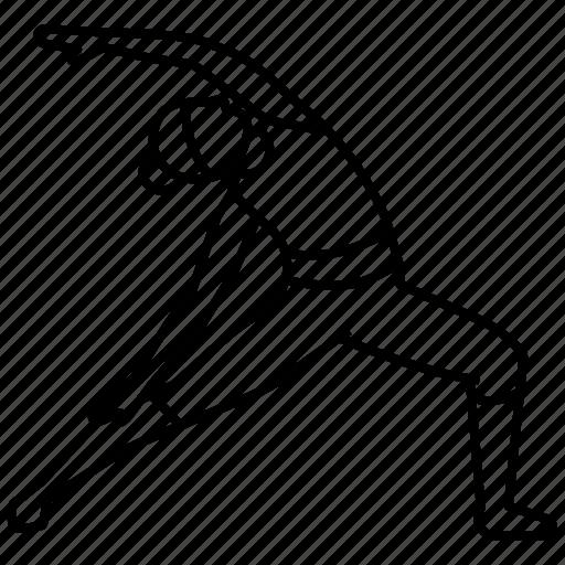 Pose, reverse, warrior, yoga icon - Download on Iconfinder