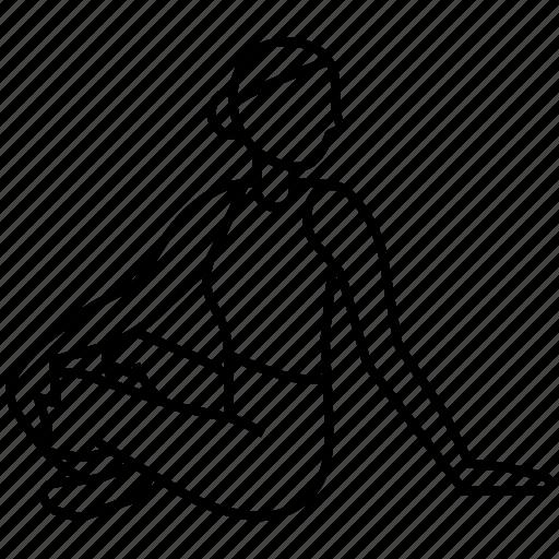 Pose, twist, yoga icon - Download on Iconfinder