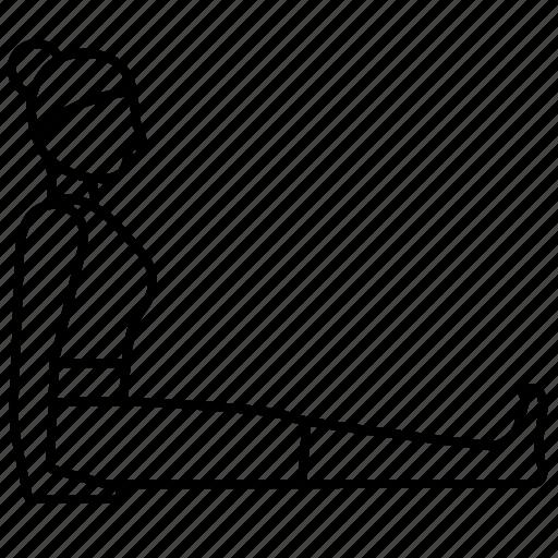 Pose, staff, yoga icon - Download on Iconfinder