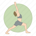 body, exercise, fitness, health, meditation, pose, yoga icon