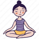 easy, lotus, meditation, pose, sukhasana, yoga icon