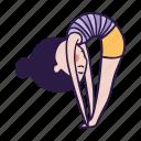 bend, forward, pose, standing, uttanasana, yoga icon