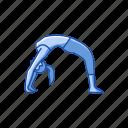 bend, chakrasana, exercise, fitness, wheel pose, yoga, yoga pose icon