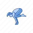 bakasana, crane pose, crow pose, exercise, fitness, yoga, yoga pose icon