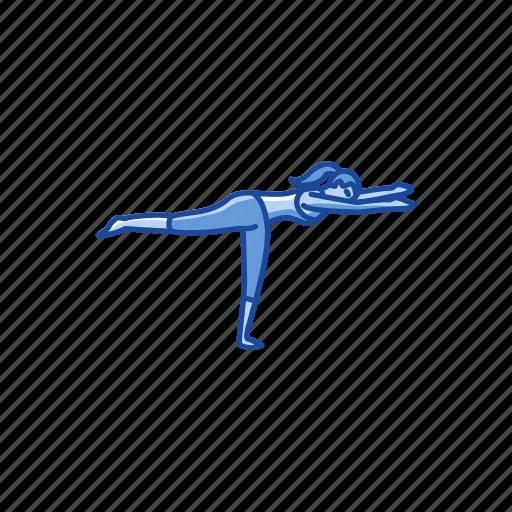 fitness, meditation, virabhadrasana 3, warrior 3 pose, yoga, yoga pose icon
