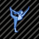 asana, dancer pose, fitness, lord of dance, natarajasana, yoga, yoga pose icon