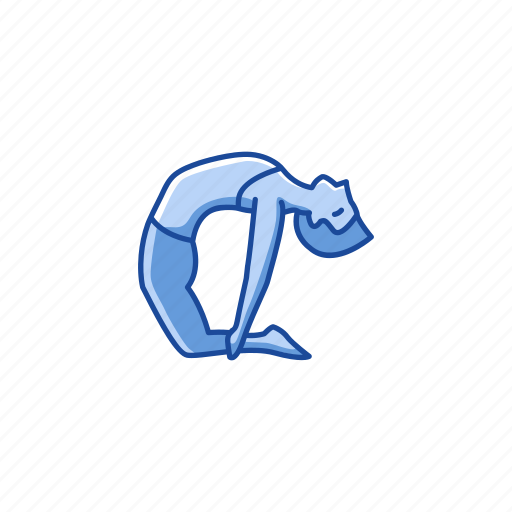 camel pose, fitness, health, ustrasana, workout, yoga, yoga pose icon