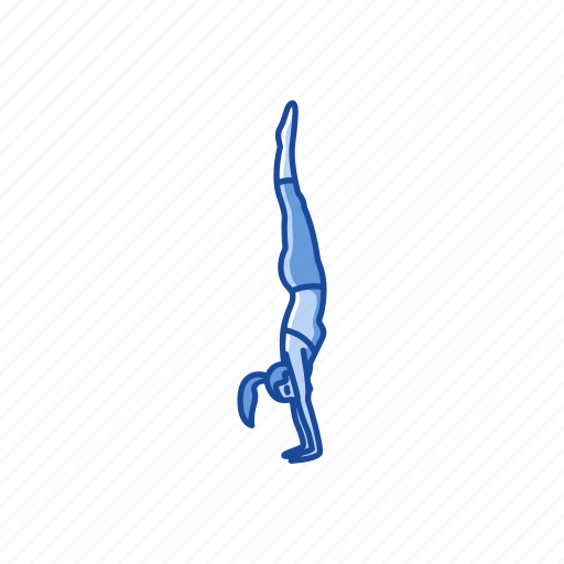 fitness, handstand, handstand pose, health, workout, yoga, yoga pose icon