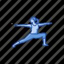 exercise, fitness, virabhadrasana 2, warrior 2, workout, yoga, yoga pose