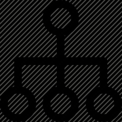 Connectivity, flowchart, chart, algorithm, graph icon