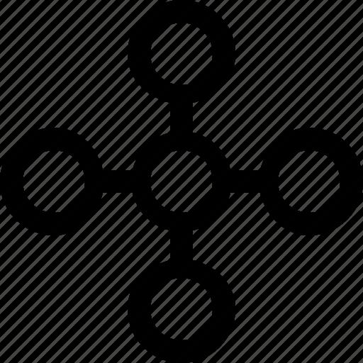 algorithm, chart, connectivity, flowchart, graph icon