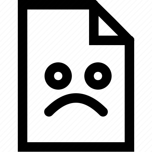 bad, emoji, emotion, file, sad, situation icon
