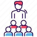 company, conference, crew, group, organization, seminar, team icon