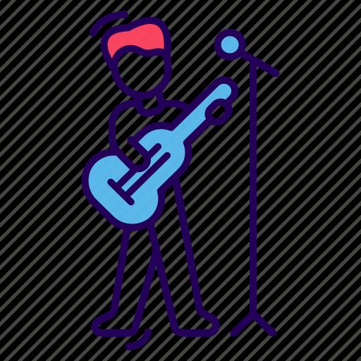 artist, entertainer, guitarist, musician, performer icon