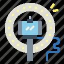 light, electricity, spotlight, technology icon