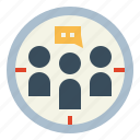 business, customer, people, target icon