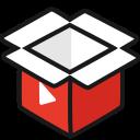 box, empty, play, video icon