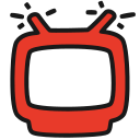 broadcast, live, red, show, translation, tv icon