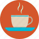 beverage, coffee, cup, food, hot, plate, tea icon