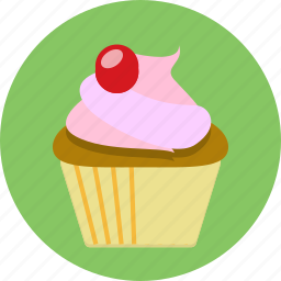 cake, cup cake, cupcake, dessert, food, topping icon