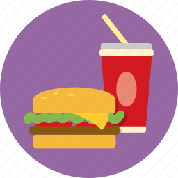 burger, drink, fast food, fizzy, food, hamburger, soft drink icon
