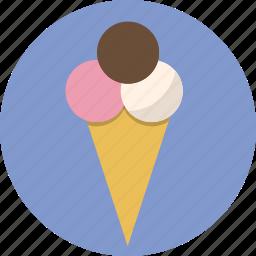 cone, delcious, dessert, food, ice cream icon