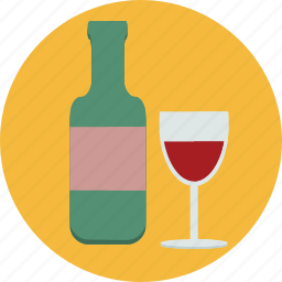 alcohol, bottle, drink, food, glass, wine icon