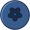 blueberry, food, forest, fruit, garden, vitamins, yumminky icon