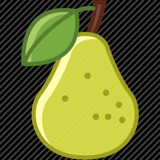 food, fruit, garden, leaf, pear, vitamins, yumminky icon