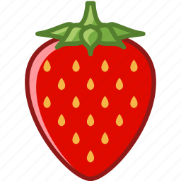 fit, food, fruit, garden, strawberry, vitamins, yumminky icon