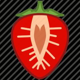 food, fruit, garden, strawberry, vitamins, yumminky icon