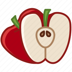 apple, fit, food, fruit, garden, vitamins, yumminky icon