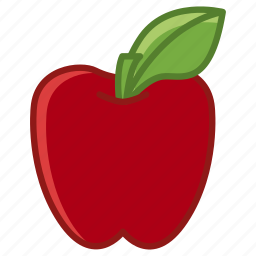 apple, food, fruit, garden, leaf, vitamins, yumminky icon