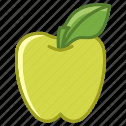 apple, food, fruit, garden, leaf, vitamins, yumminky icon