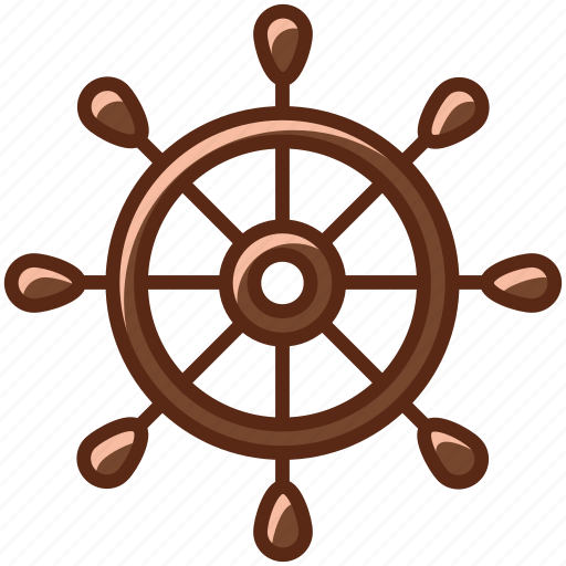 boat, cruise, holiday, rudder, sea, ship, yumminky icon