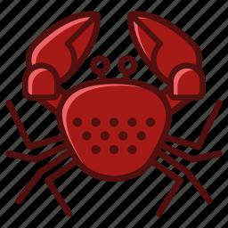 animal, crab, holiday, ocean, sea, vacation, yumminky icon
