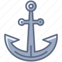 anchor, boat, harbor, holiday, sea, ship, yumminky icon