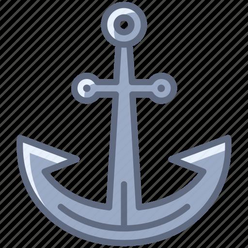 anchor, boat, harbor, holiday, sea, ship, yumminky icon
