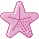 animal, holiday, ocean, sea, star, summer, yumminky icon