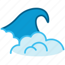 beach, foam, holiday, ocean, sea, wave, yumminky icon
