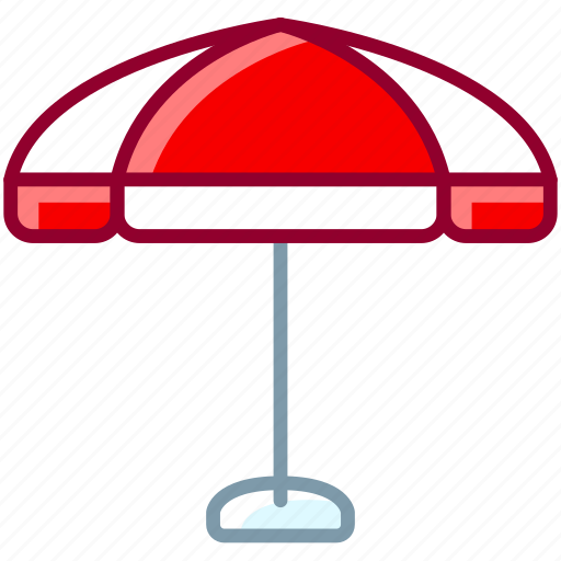 beach, holiday, parasol, summer, sunshade, umbrella, yumminky icon