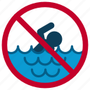 beach, danger, holiday, restriction, swimming, waves, yumminky icon